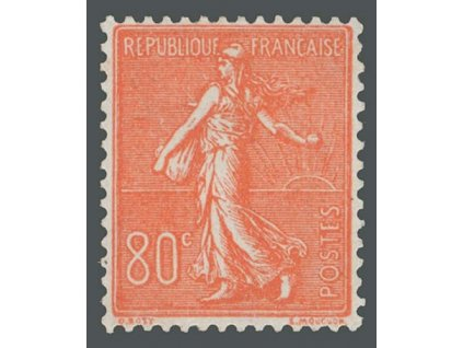 1924, 80C Rozsévačka, MiNr.166, **