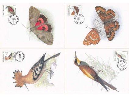 CM 25-28 Ptáci a motýli, kat.700Kč