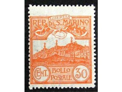 1925, 30C Monte Titano, MiNr.114, * po nálepce