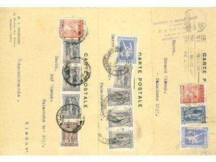 1925/26, DR Athenes, 3 ks firemních karet