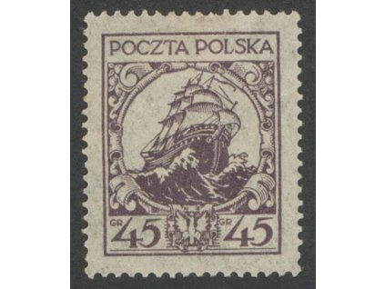 1925, 45Gr Galeona, MiNr.243II, těžká *