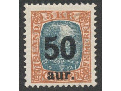 1925, 50A/5Kr Christian, MiNr.113, * po nálepce