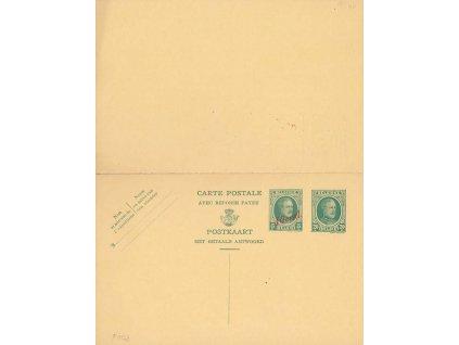 1926, dvojitá dopisnice MiNr.P103, neprošlé