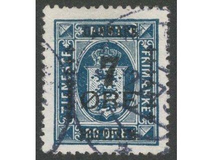 1926, 7Q/20Q tmavě modrá, MiNr.165, razítkované