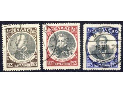 1927, 5Dr Osobnosti, MiNr.324-26, razítkované