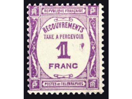 1927, 1Fr doplatní, MiNr.60, * po nálepce