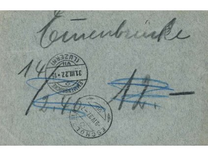 1927, DR Escholzmatt, firemní karta, potvrzení