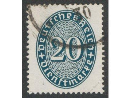 1927, 20Pf služební, MiNr.119Y, razítkované