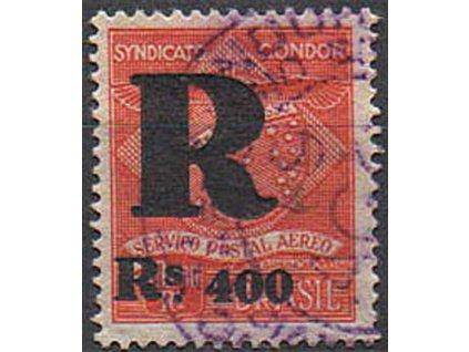 Brasilie, 1928, Rs400/10000R Privatflug, razítkované