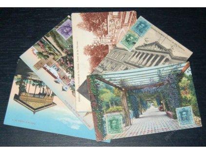 1928, 6 ks pohlednic, zasláno do ČSR