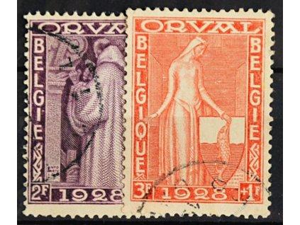 1928, 2 a 3Fr Orval, MiNr.240,241, razítkované