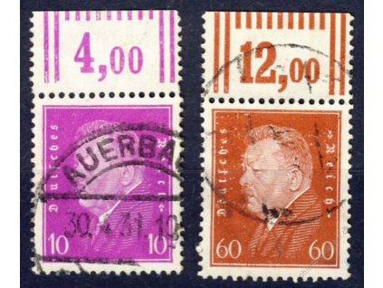 1928/30, 10 a 60Pf Ebert, Nr.421,435, razítkované