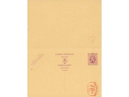 1928, dvojitá dopisnice MiNr.P141, neprošlé
