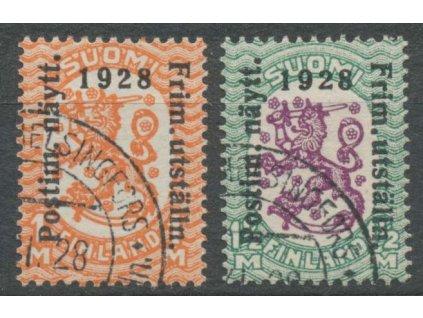 1928, 1-1 1/2M série, MiNr.138-39, razítkované