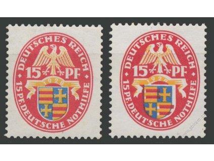 1928, 15Pf Znak, VV - posun modré a žluté barvy, **