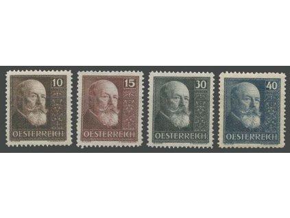 1928, 10-40g série Hainisch, MiNr.494-97, * po nálepce