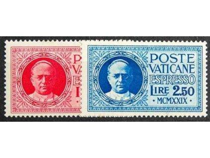 1929, 2-2.50L Spěšné, MiNr.14-15, * po nálepce