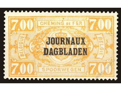 1929, 7Fr Zeitungspaketmarken, MiNr.37, těžší *