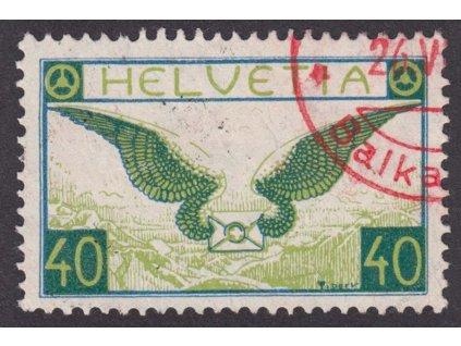 1929, 40C letecká, MiNr.234, razítkované