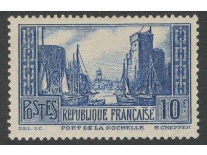 1929, 10Fr Přístav, lom, MiNr.241, * po nálepce