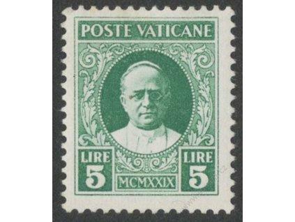 1929, 5L Papež, MiNr.12, * po nálepce