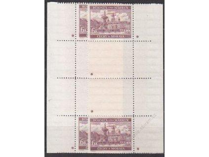 6K Budějovice, svislá meziarší, L+P, křížek, Nr.46