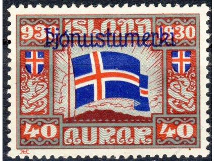 1930, 40A služební, MiNr.53, těžší *