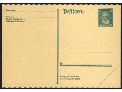 1930, 8Pf Beethoven, do psacího stroje, neprošlá