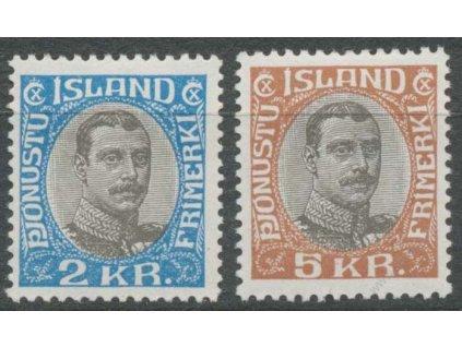 1930, 2 a 5Kr služební, MiNr.60,61, **