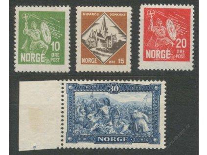 1930, 10-30Q série Olaf, MiNr.155-58, */**
