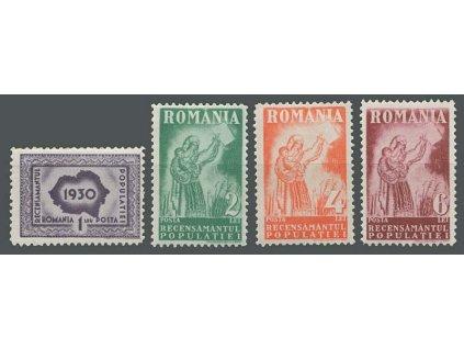 1930, 1-6L série, MiNr.393-96, * po nálepce