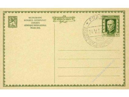 CDV 31e Kongres, zelený přítisk, pamětní razítko