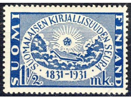 1931, 1 1/2M modrá, MiNr.163, * po nálepce