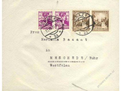 1938, DR Graz 11.7., dopis se smíšenou frankaturou