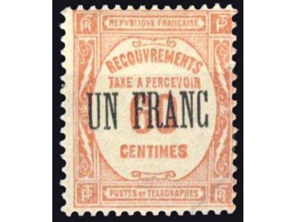 1931, 1Fr/60C doplatní, MiNr.67, * po nálepce