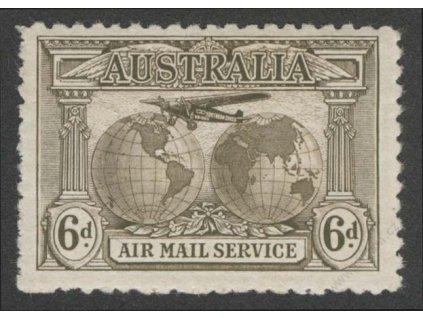 Austrálie, 1931, 6P letecká, MiNr.113, * po nálepce