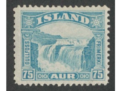 1931, 75A Vodopád, MiNr.155, * po nálepce