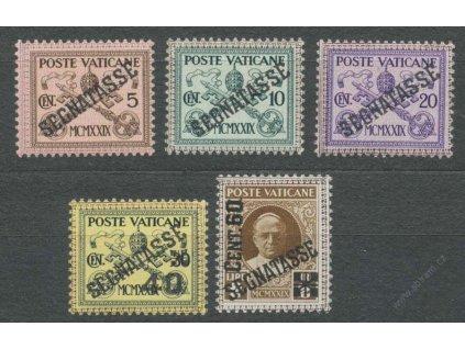 1931, 5C-60C/2L doplatní, MiNr.1-5, * po nálepce