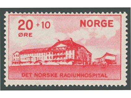 1931, 20Q Nemocnice, Oslo, MiNr.162, * po nálepce