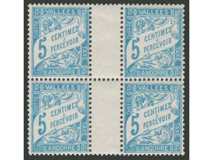 Francouzská, 1931, 5C doplatní, 4blok, MiNr.1, **