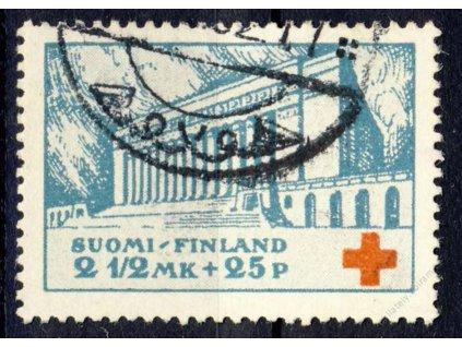 1932, 2 1/2M Červený kříž, MiNr.175, razítkované