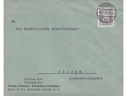 1932, DR Berlin, firemní dopis zasl. do ČSR, hledaná frankatura