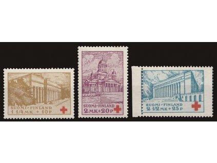 1932, 1 1/2-2 1/2M série ČK, MiNr.173-75, **/* , 2 1/2M posun