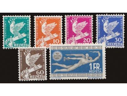 1932, 5C-1Fr série Genf, MiNr.250-55, */**