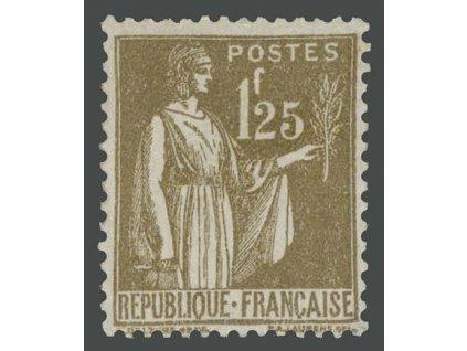 1932, 1.25Fr Alegorie, MiNr.281, * po nálepce