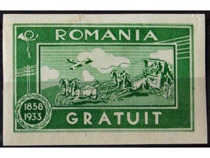 1933, - zelená Portofreiheitsmarken, * po nálepce