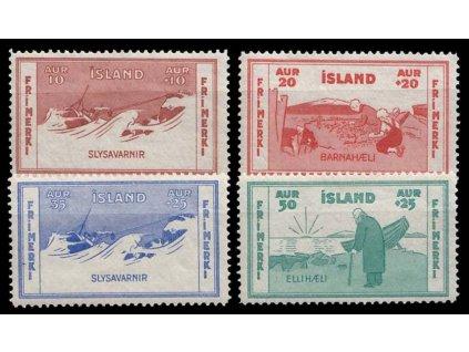 1933, 10-50A série, MiNr.168-71, **