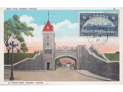 1933, DR Quebec, Carte Maxima, razítko FDC 8.MY.1933