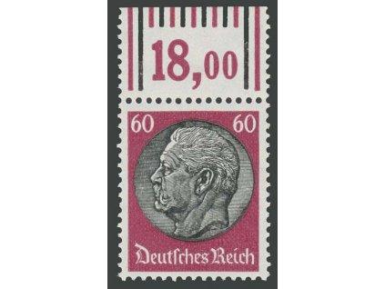 1933, 60Pf Hindenburg, počitadlo, MiNr.526, **