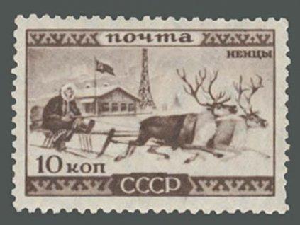 1933, 10K Sobí spřežení, MiNr.438, **
